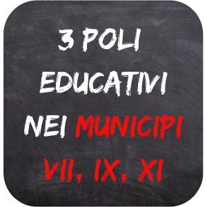 3 poli educativi nei municipi VII, IX, XI