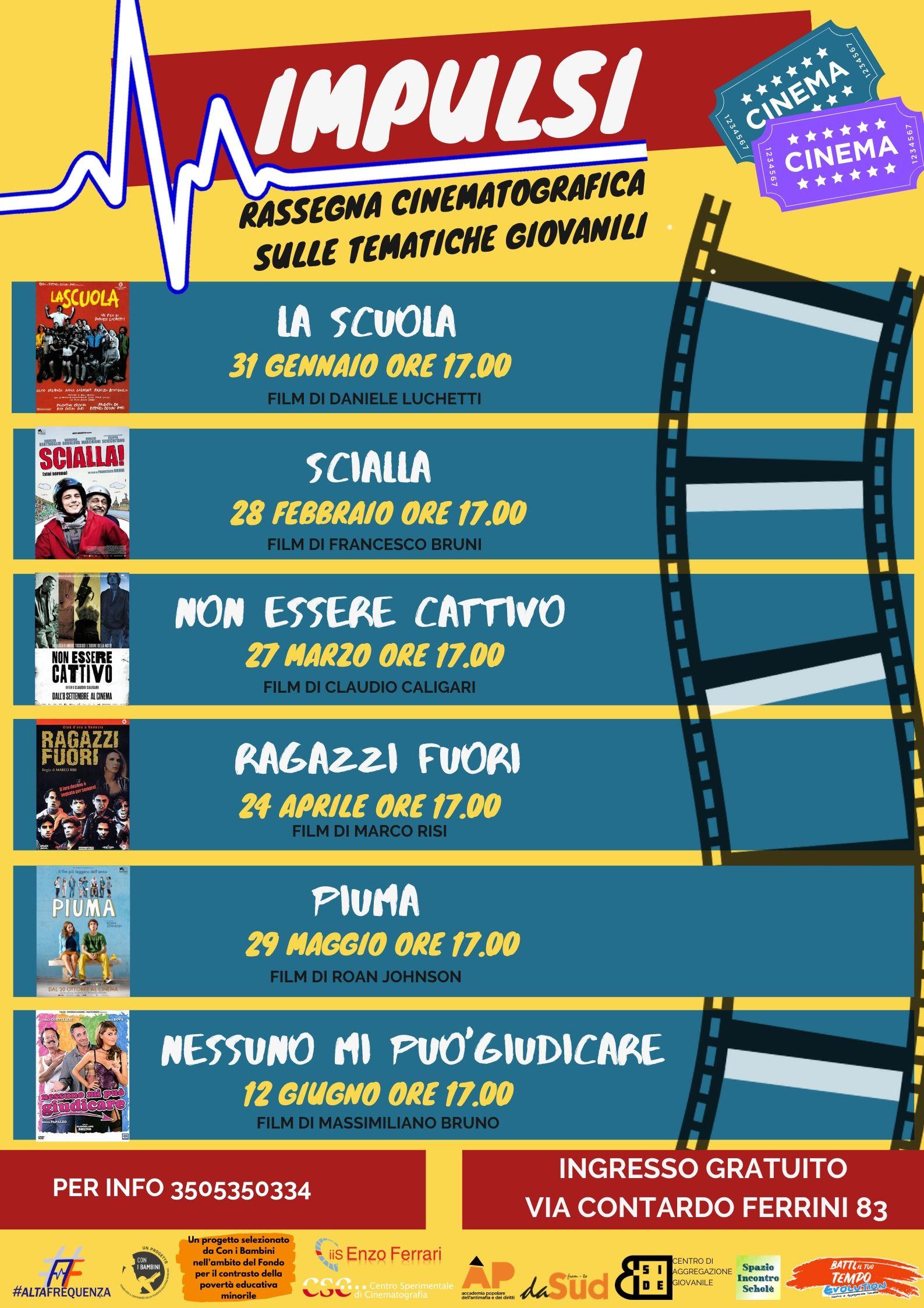 Rassegna di cinema su tematiche giovanili