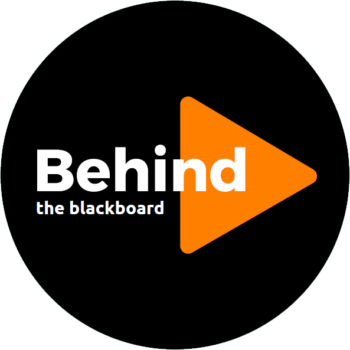 Logo Behind the blackboard
