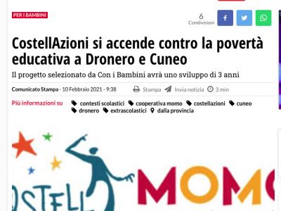 L'articolo di Cuneo 24 sul progetto CostellAzioni