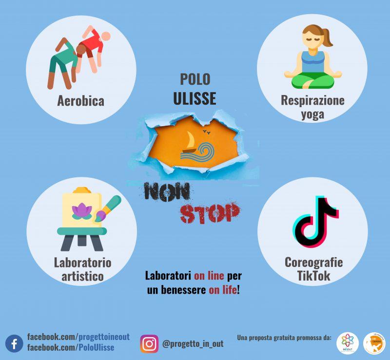 Polo Ulisse Non stop propone laboratori per gli adolescenti in modalità live online durante l'emergenza coronavirus