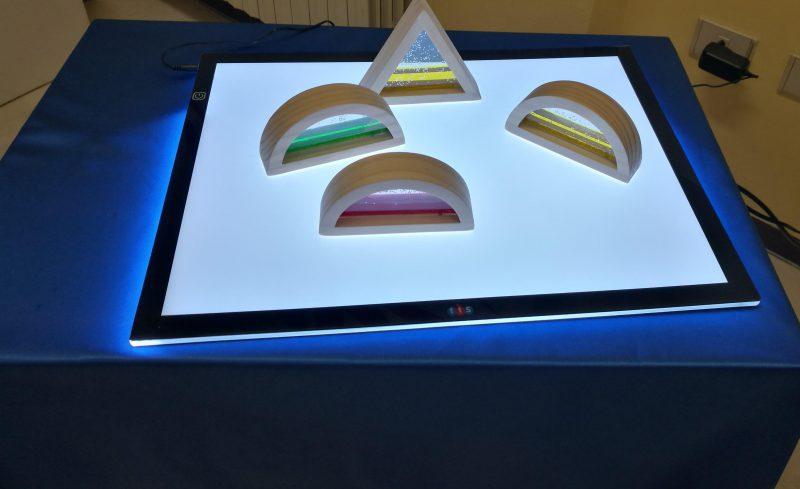 Nuovi strumenti per insegnanti ed educatori. Lavagna luminosa, forme geometriche colorate