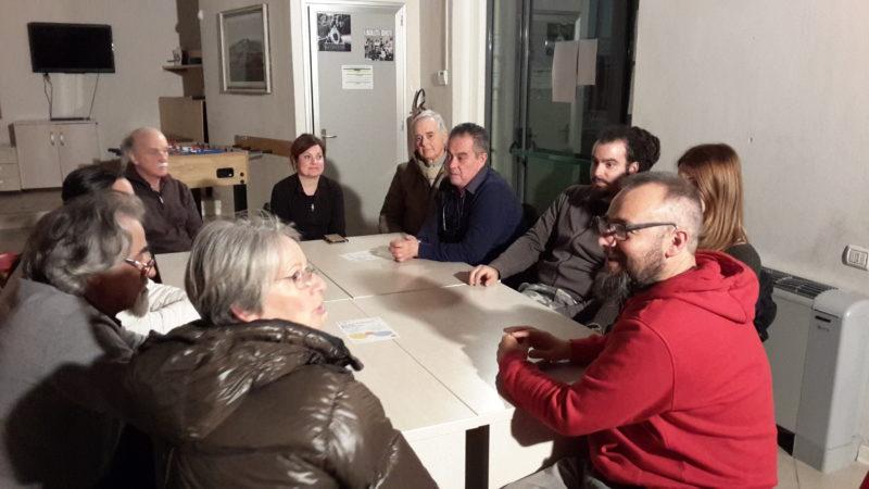 La riunione col Comitato di rappresentanza locale di Piano di Conca, 11 marzo