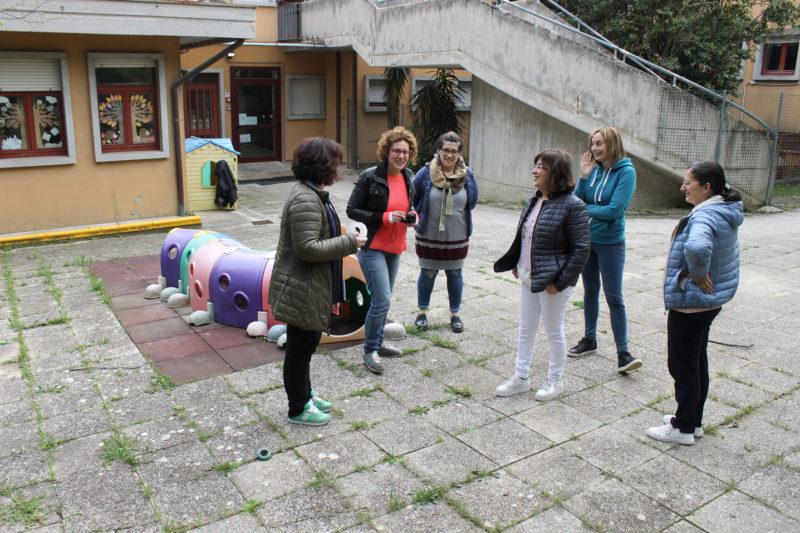 La comunità educante su confronta sullo spazio esterno della scuola infanzia Cardarelli