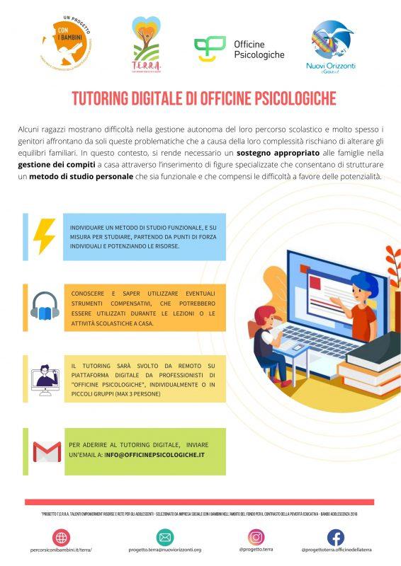 tutoring digitale officine psicologiche progetto terra